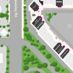 center map for gilroy premium outletsa shopping center in