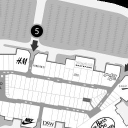 Tsawwassen Mills Stores Map | Premium Fashion Brands