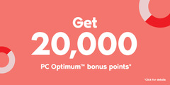 Get 20,000 PC Optimum™ bonus points*