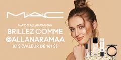 Brillez avec M.A.C X ALLANARAMAA - 87 $ (Valeur de 161 $)