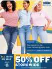 Main Event: Up to 50% Off Storewide + All Jeans and Pants on Sale (Mon 9/17 - Tues 9/25)