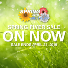 Spring Flyer Sale - ON NOW!