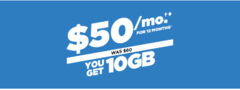 Get 10 GB LTE Data for only $50*/month when you bring in your own phone and sign up for Digital Discount!