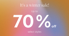 We're starting our traditional winter sale early!
