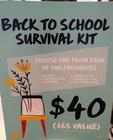 Back to School Survival Kit! $40 (Reg $63)