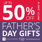 Father's Day Gifts up to 50% off @Things Engraved