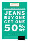 TOPMAN/TOPSHOP BUY ONE PAIR OF JEANS AND GET 2ND AT 50% OFF