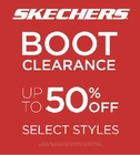 UP TO 50% OFF BOOTS AT SKECHERS!