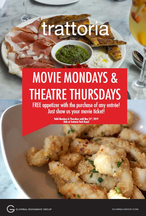 Movie Mondays and Theatre Thursdays
