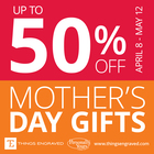 Mother's Day Sale up to 50% off