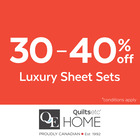 30% – 40% Off Luxury Sheets!