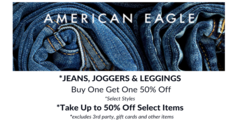 Jeans, Joggers, Leggings - Buy One Get One 50% Off & Up to 50% Off Selected Items