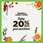Don't miss out on the one-time annual Friends & Family event - Receive 20% off at Kiehl's!