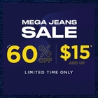 MEGA JEANS SALE - JEANS FROM $15 & UP