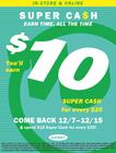 Super Cash Earn 10/26-11/19
