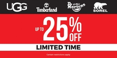 Up to 25% off Limited Time