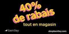 40% de rabais tout en magasin