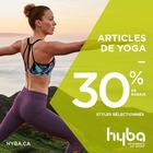 Obtenez 30 % de rabais sur les articles de yoga séléctionnés