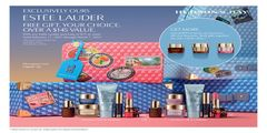 ESTEE LAUDER FREE GIFT. YOUR CHOICE. OVER A $145 VALUE.