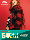 Up to 50% Off All Jeans & Pants, All Sweaters, and All Outerwear (Mon 11/4 – Wed 11/13)