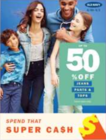 Up to 50% Off Select Tops, Select Pants, Select Jeans (Sat 2/22 – Sun 3/1) CDA STORES