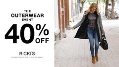 Ricki's - Outerwear Event - 40% Off