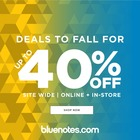 DEALS TO FALL FOR - UP TO 40% OFF