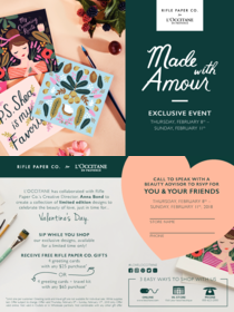 Made With Amour -Exclusive Event February 8th - 11th
