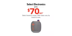 Select Electronics Up To $70 Off!