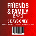 Friends & Family Event