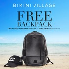 FREE backpack with every purchase of $125 + of regular-priced Billabong merchandise*