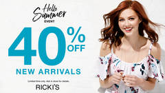 RICKI'S - HELLO SUMMER EVENT - 40% OFF