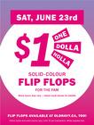 $ 1 Solid Colour Flip Flop's