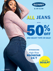 Jeans Campaign: Up To 50% Off All Jeans + Select Tops on Sale (Tues 2/19 – Tues 2/26)