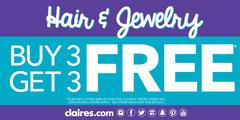 Hair & Jewelry Buy 3 Get 3 Free!