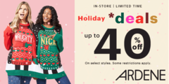 Holiday deals at Ardene!