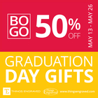 Graduation Gifts BOGO - 50% off @Things Engraved