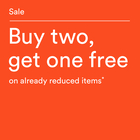 SALE. Buy two, get one free