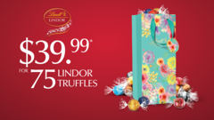 75 Lindor Truffles for only $39.99!*