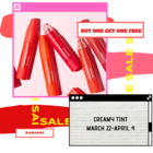 MAMONDE CREAMY TINT AT BUY ONE GET ONE FREE SALE!