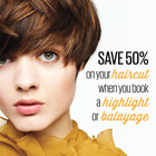 50% off a haircut when you book any colour service!
