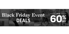 Black Friday Event - Savings up to 60% Off!