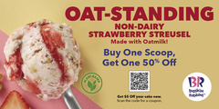 Dessert without the Dairy. New! Non-Dairy Strawberry Streusel Ice Cream