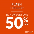 Flash Frenzy! Buy One Get One 50% off*