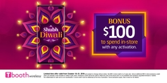 Shubh Diwali. BONUS $100 to spend in-store.