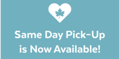 Same day pick up is now available!