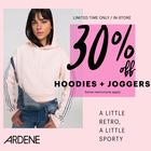 30% Off Hoodies & Joggers