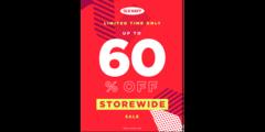UP to 60% off Storewide