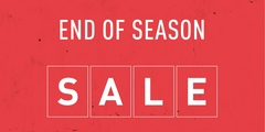 END OF SEASON SALE | UP TO 50% OFF