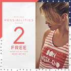2 free when you buy one!
